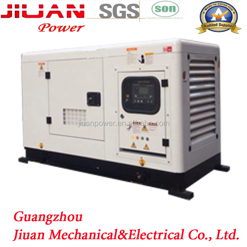 2017 Guangzhou Factory for Sale Price 10kw 12kVA Silent Electric Power diesel portable generator set 12kv