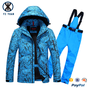 Factory customized men's waterproof cordura nylon fashion sublimation skiing jacket and pants