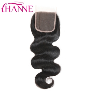 7A Grade Virgin Brazilian Hair Closure Top Quality Swiss Lace 4*4 Lace Closure Middle Three Free Part Available