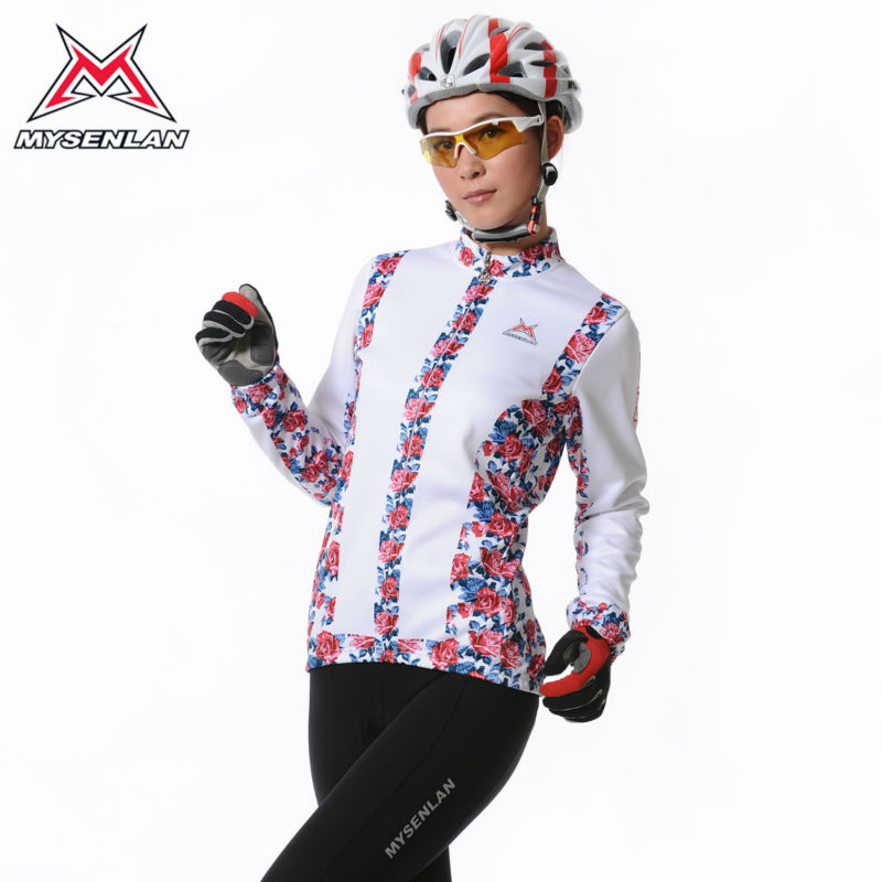 2015 Mysenlan winter Ladies Fleece Cycling Sportswear