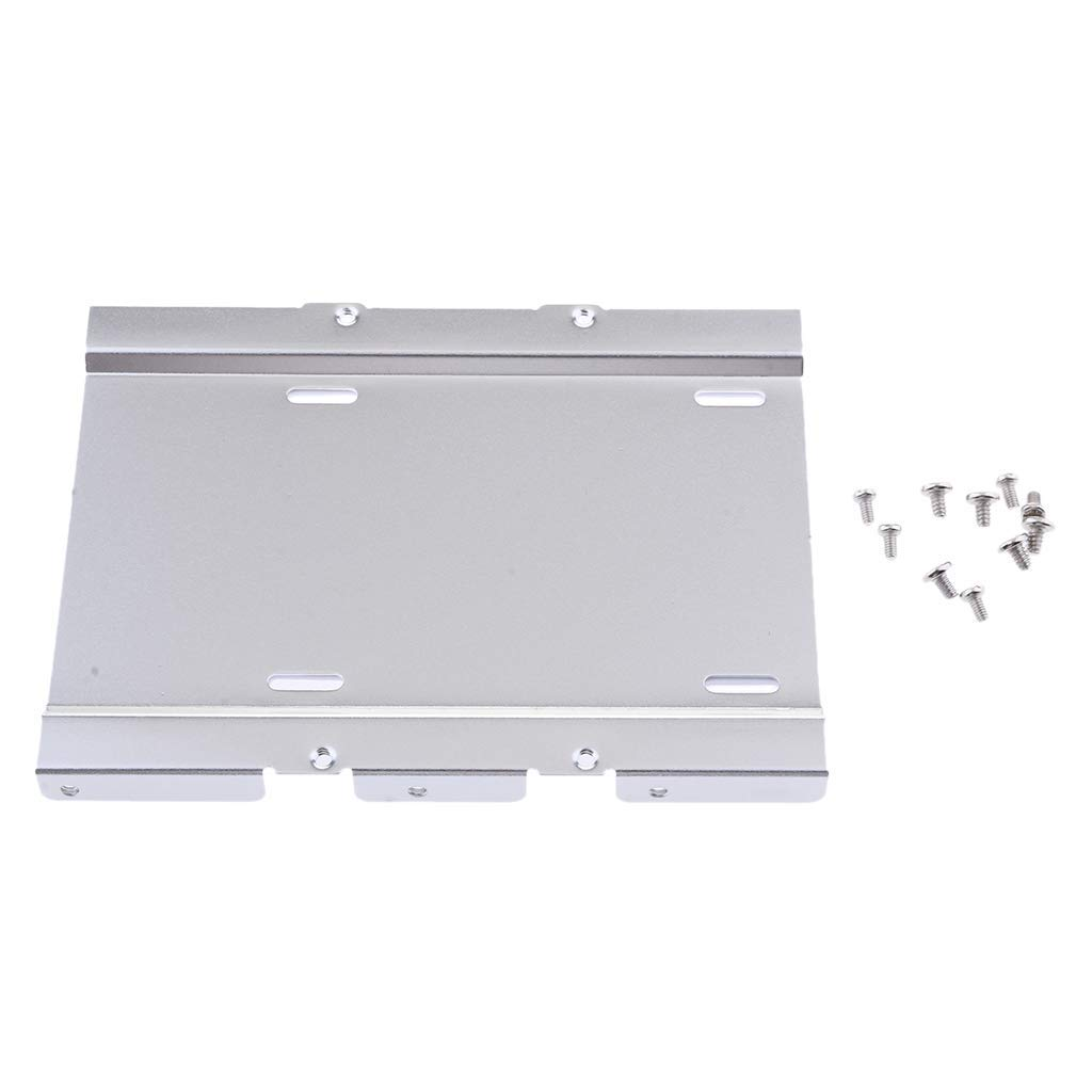 "MagiDeal 2.5""to 3.5""Bay SSD Notebook Hard Disk Drive Mounting Bracket Tray Kit White"