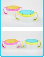 Infants Kid Spill Proof Bowl Dishes Tableware Baby Snack Bowl Food Container Feeding Children Assist Food