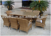 9pcs rattan sofa sets,table and chair