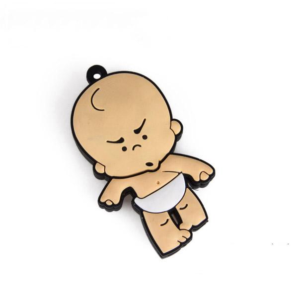 Baru Kedatangan Indah 2D Bayi Bentuk USB Flash Drive Lembut PVC Kustom Gantungan Kunci Pen Drive