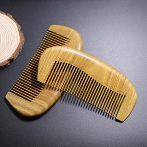 Whole wooden small Green sandalwood hair Combs for gift