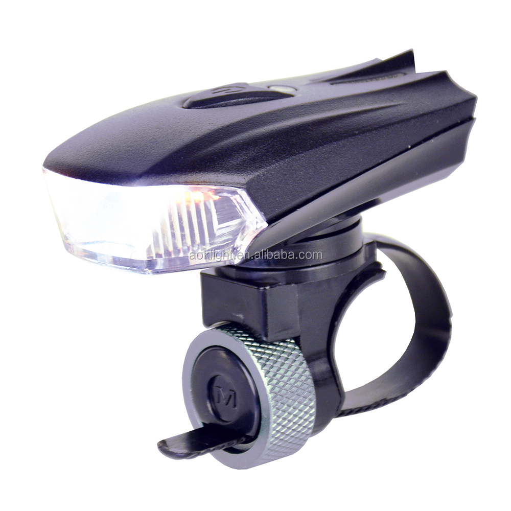 A-OK Micro USB Rechargeable STVZO Light /Vibration sensor 3W CREE LED Bicycle Front Light