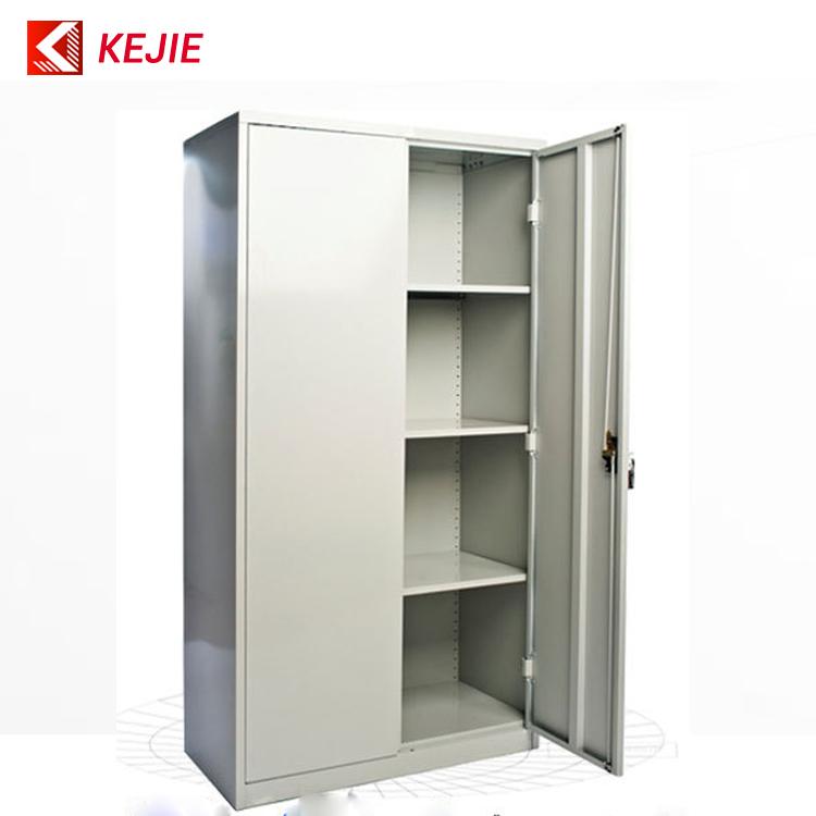 Metal Black Lock Key Safety Office Metal Cupboard 2 Door