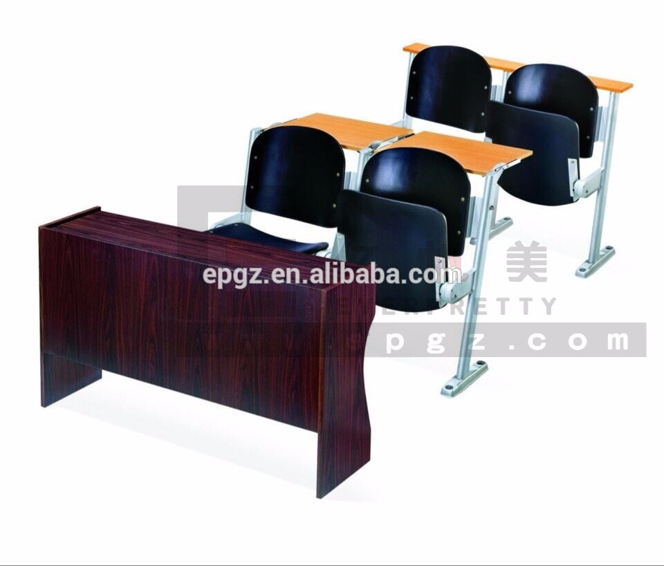 Lecture Hall Chair With Casters,pp Student Chair With Tablet Arm For College