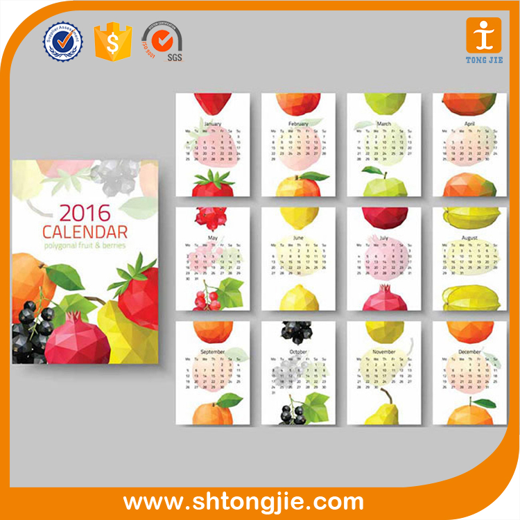 3 Month Large 2016 Chinese Style Wall Scroll Calendar <strong>Printing</strong>