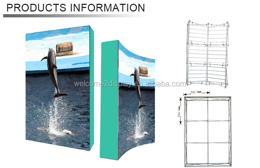 LED fabric SEG pop up backdrop stand