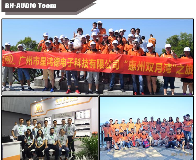 RH-AUDIO Public Address System 240W Audio Amplifier For Shops