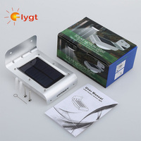 1600mA battery rechargeable motion sensor warm/cool white solar pir light panel for outdoor garden