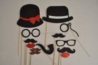 2016 NEW 13pcs/set Photo Booth props Hat Moustache Glasses wedding gifts party decorations