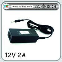 Real output 12V 2A 24W power supply AC to DC adapter