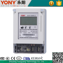 High quality measure accurately single phase prepaid electric kwh power meter