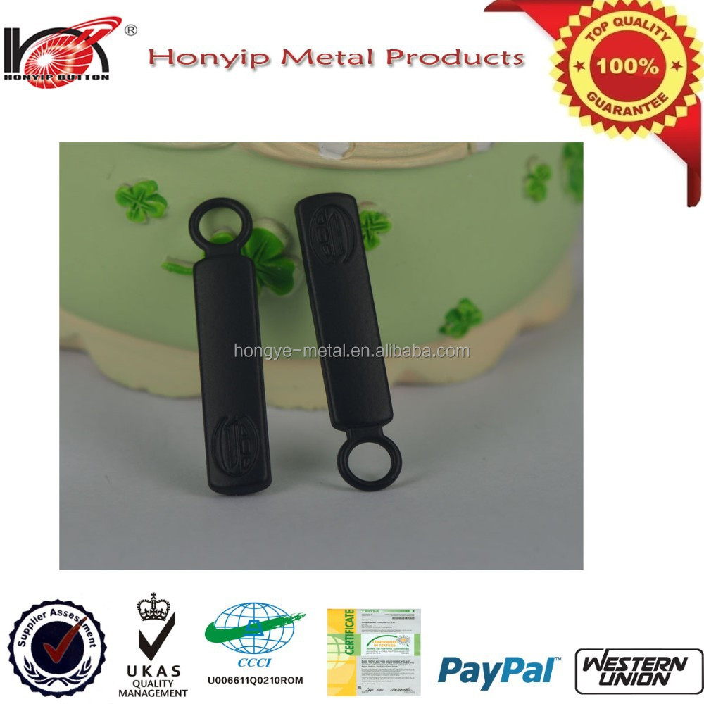 Supply high quality painted black color metal puller,strong engraved puller