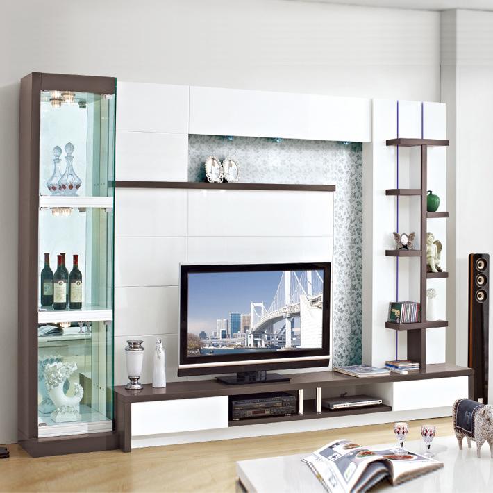 Latest Design Mdf Tv Wall Unit Design 202 Wood Led Tv