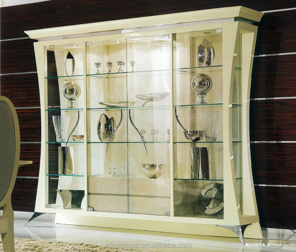 wholesale simple living room wall glass display showcase bl11311a-3, view  glass display showcase, aliye product details from guangdong luxury homey