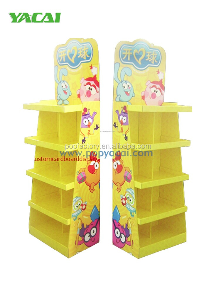 Corrugated cardboard display for Toy balls, POP Cardboard shelf display