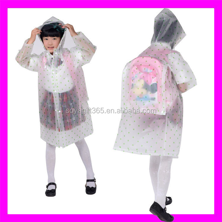 Impermeable Children Raincoat Transparent Waterproof Kids Rainwear