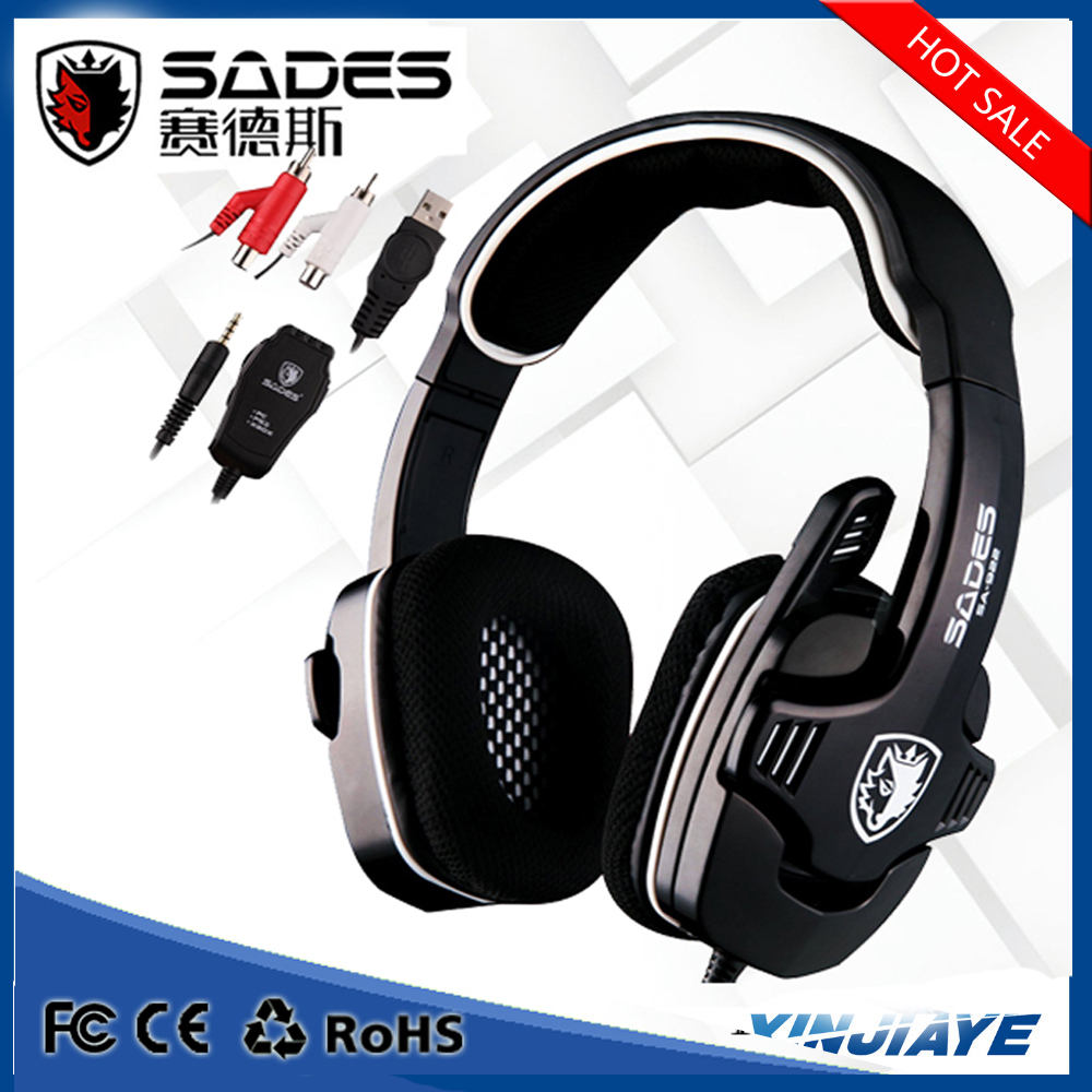 Sades SA-922 4 in 1 Surround Sound Stereo Gaming Headset Headphones Earphones with Mic for PS3 PS4 XBOX 360 Cell Phones PC Gamer
