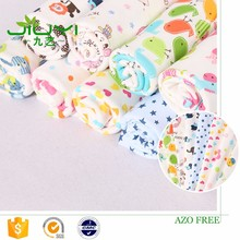 new design pattern custom cartoon print 100% cotton cambric printed fabric for baby