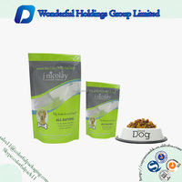 food industry use stand up zip pouch dog treats plastic packaging bag with window