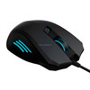rubber soft touch, laser carved pattern 6d mouse gamer with adjustable weight