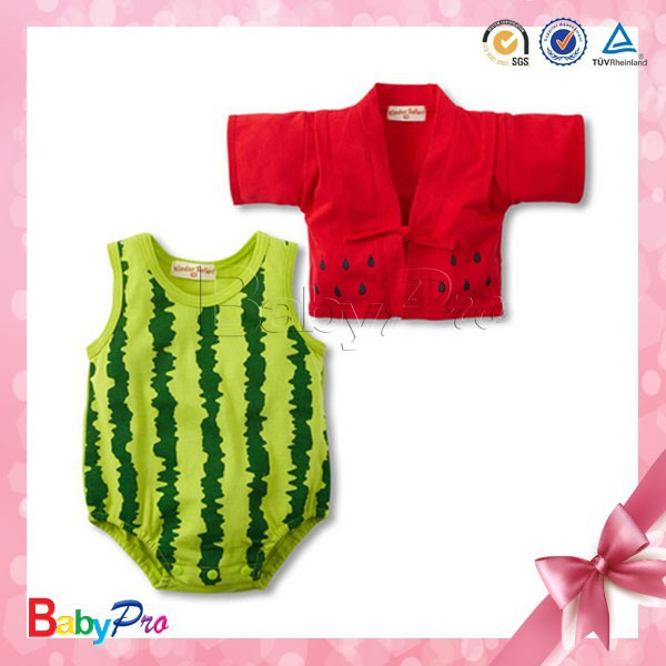 2015 Hot Sale In Summer Watermelon Color Flexible Wholesale Baby Girl Clothes Carter
