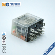 Electromechanical relay Large capacity 10A-20A of 4pdt 12v 30a relay