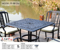 Patio furniture outdoor dining sets cast aluminum table chairs.