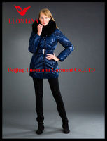 2014 women's jackets coat with faux fur collar made in China
