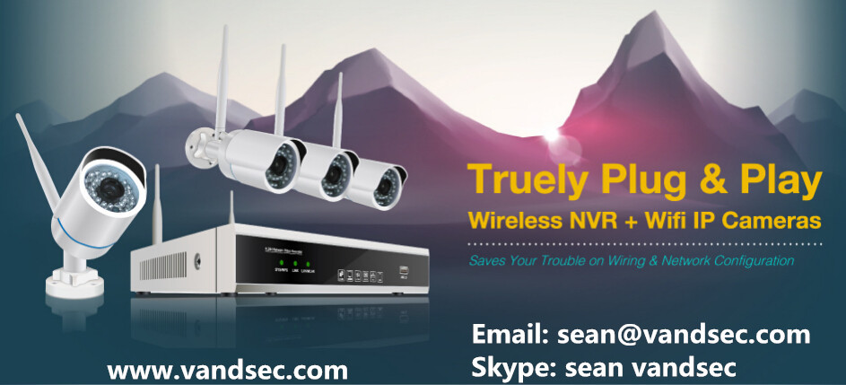 Vandsec 2016 Top10 Новый 1080 P 4CH Wifi NVR Комплект 10 Оптовая продажа, изготовление, производство