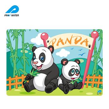 Sevimli Panda Desen Boyama Boyama Grafik Tasarım Silikon Placemat