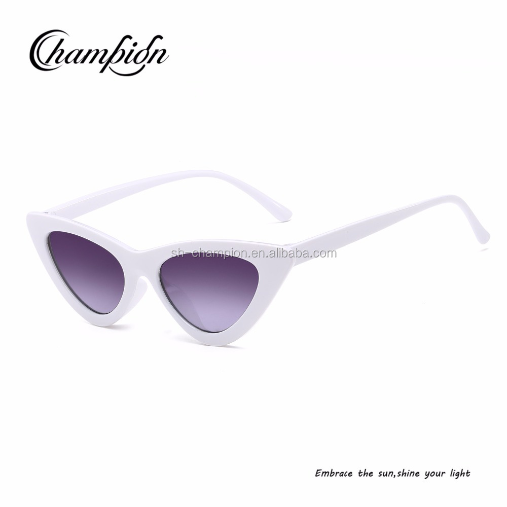 CPJ205 Wholesale cheap 2018 sunglasses fashionable old man triangle frame cat eye glasses sunglasses