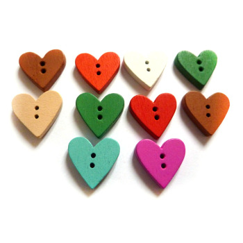 // Factory Supply Heart Shape Wood Buttons // Children Decorative Wooden  Button // Bk-but499 - Buy Heart Shaped Pearl Buttons,Heart Shaped Covered