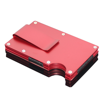 stainless steel aluminum business men metal cash clip holder bank cards wallet card holder rfid money - Money Clip Card Holder