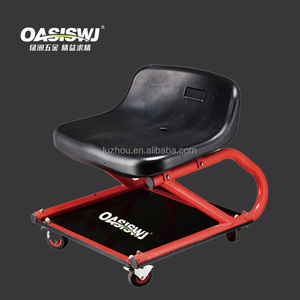 lifting car seat with square tray,stool,creeper,roller seat pneumatic sit on creeper auto repairing tool