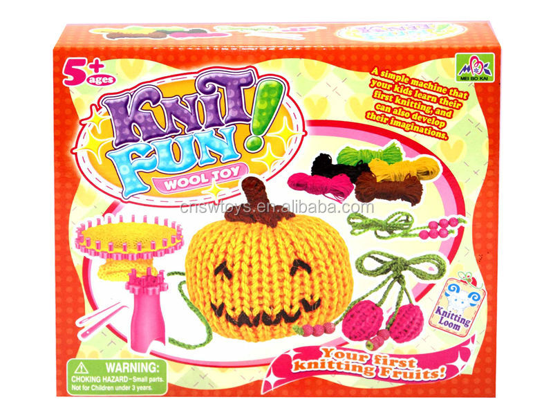 Round Knitting Loom Set Italiano : Easy knit wool loom knitting toy pumpkin kid fun js