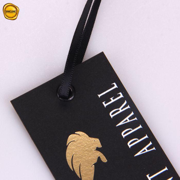 Sinicline trung quốc custom giấy sang trọng hangtag đồ lót may mặc treo thẻ