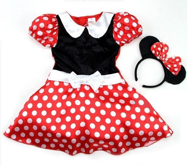 minnie mouse costume free shipping halloween minnie mouse girls child children party christmas. Black Bedroom Furniture Sets. Home Design Ideas