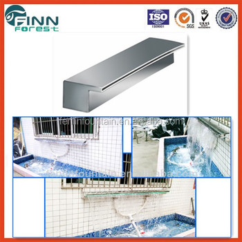 Swimming Pool Stainless Steel Indoor Wall Water Features