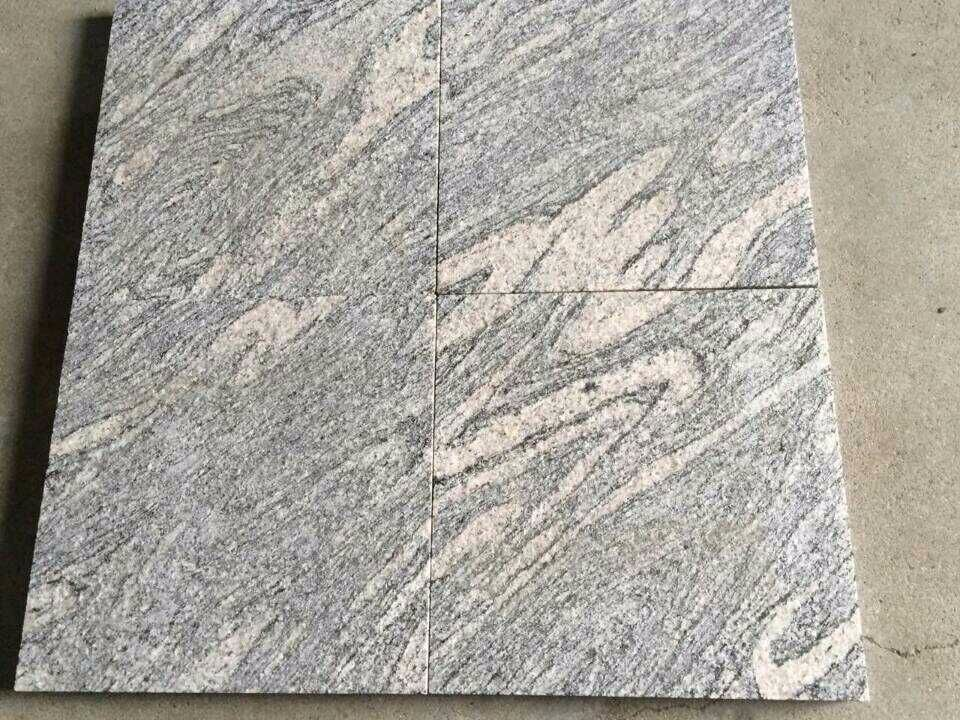 High Quality flamed Granite Tiles grey wave pattern wholesale