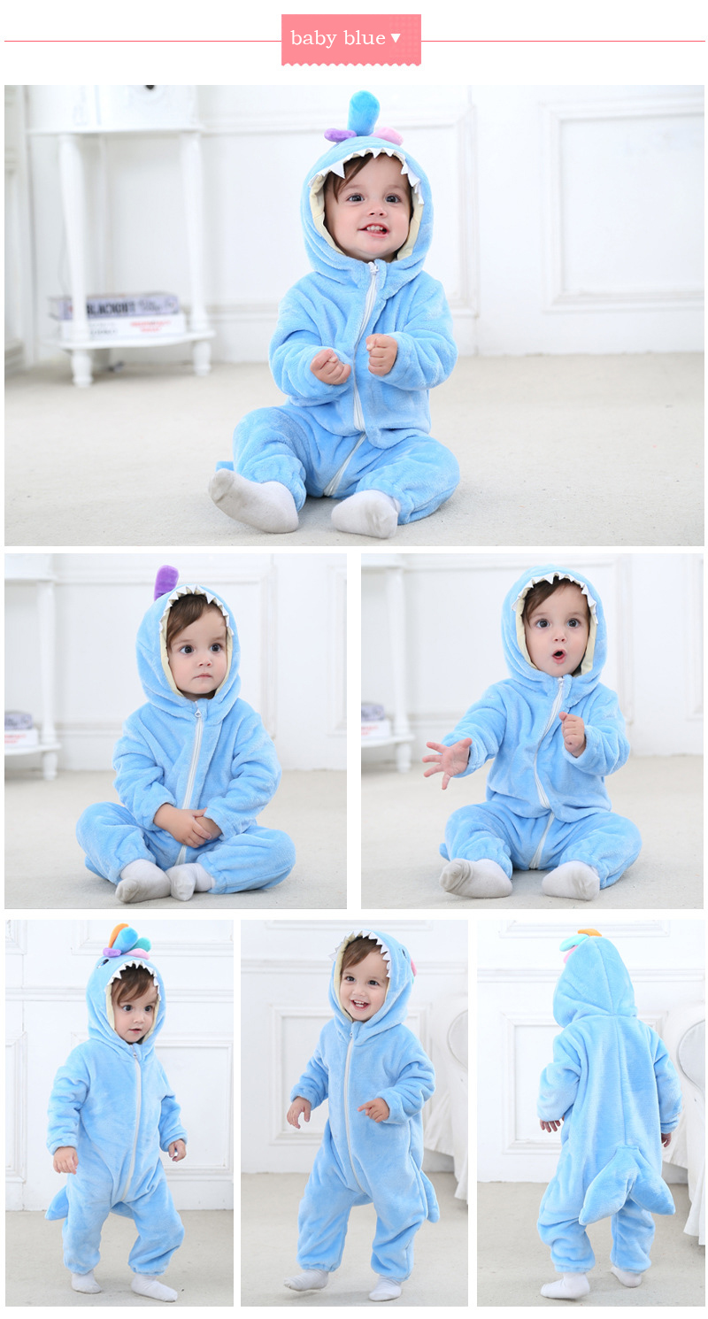 ed90eb54d Christmas Animal Baby Clothes Santa Pattern Baby Rompers Toddlers ...