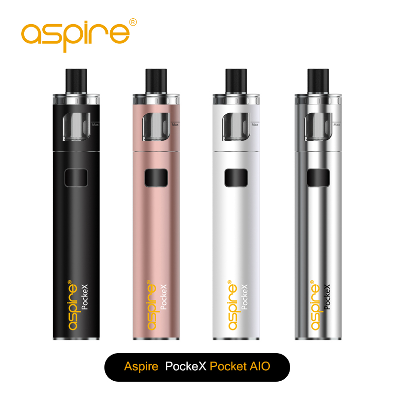 aspire newest 1500mah 0.6ohm acceptance 18-23 W 2ML aspire Pockex kit all in one kit vape pen Aspire PockeX in stock