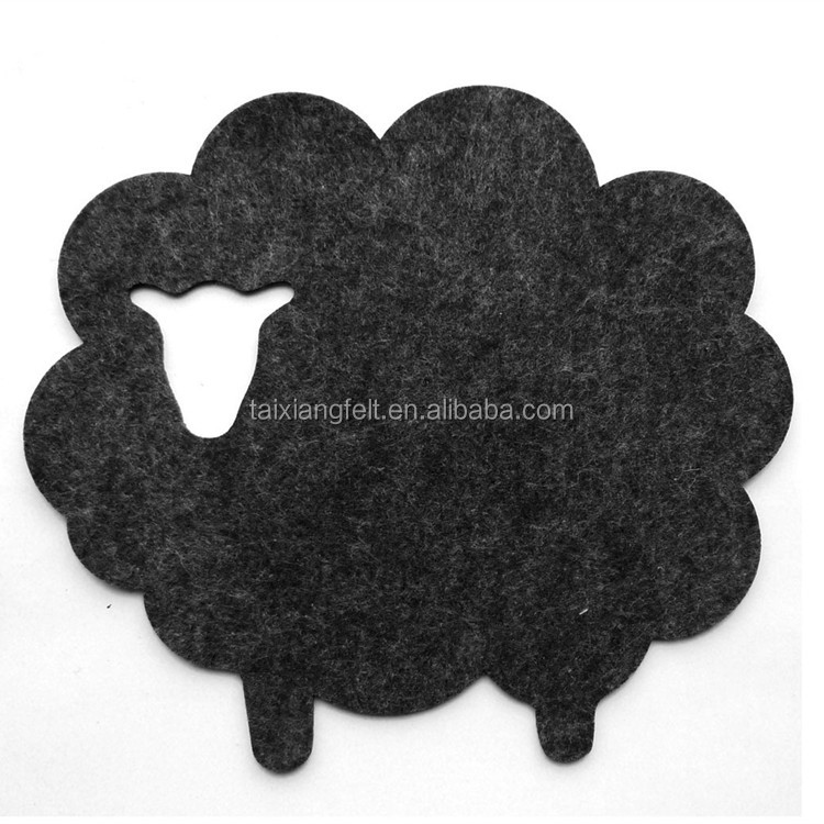 shape coaster customized by wool felt