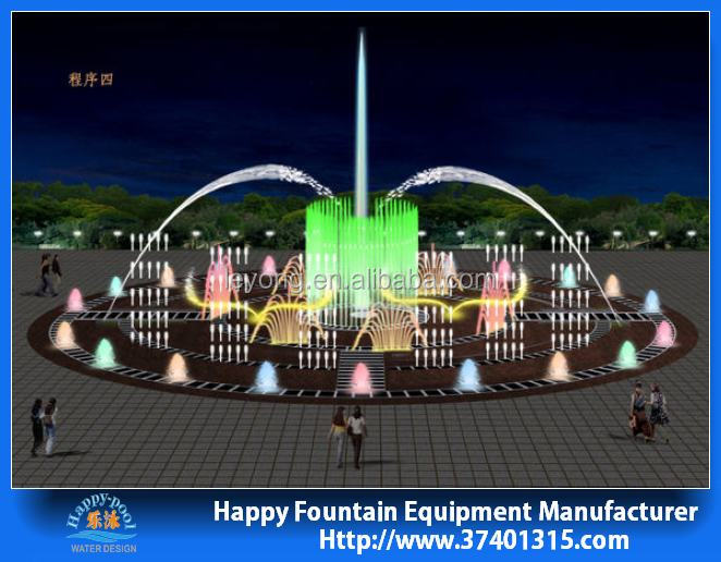 outdoor high quality colorful garden LED light dancing water fountain for pool, lake, square, park, shopping mall