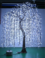 Artificial ligthed weeping willow tree