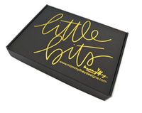 Customized black matte corrugated cardboard box with logo to be gold foil stamping