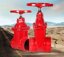 Manufacturers supply soft sealing grooved gate valve ductile iron groove gate valves for fire firghting
